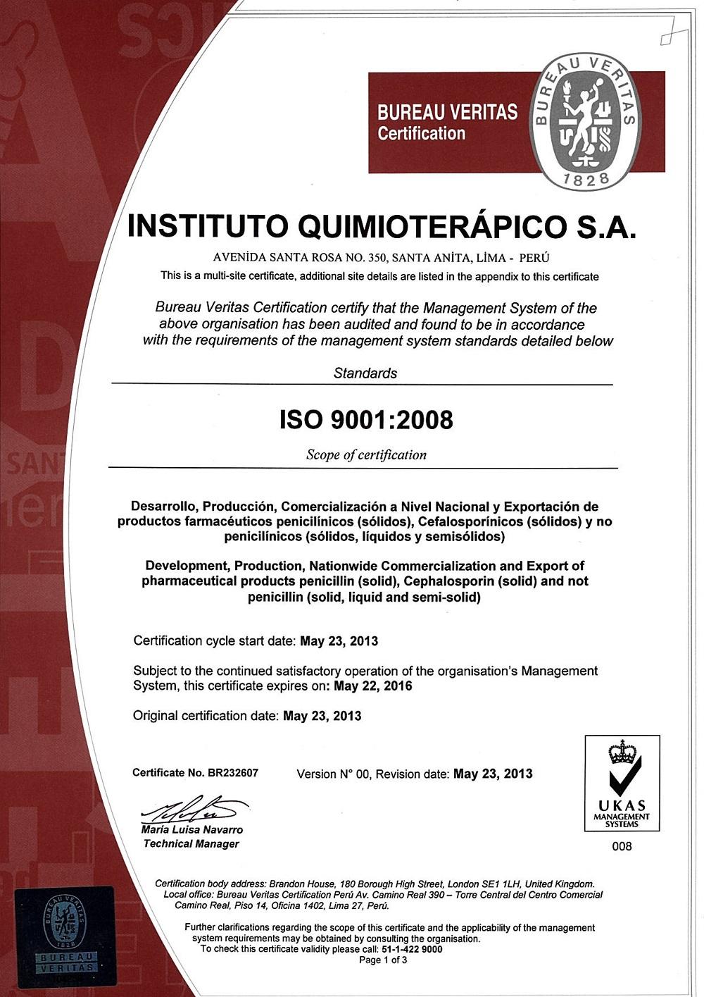 CERT ISO UKAS
