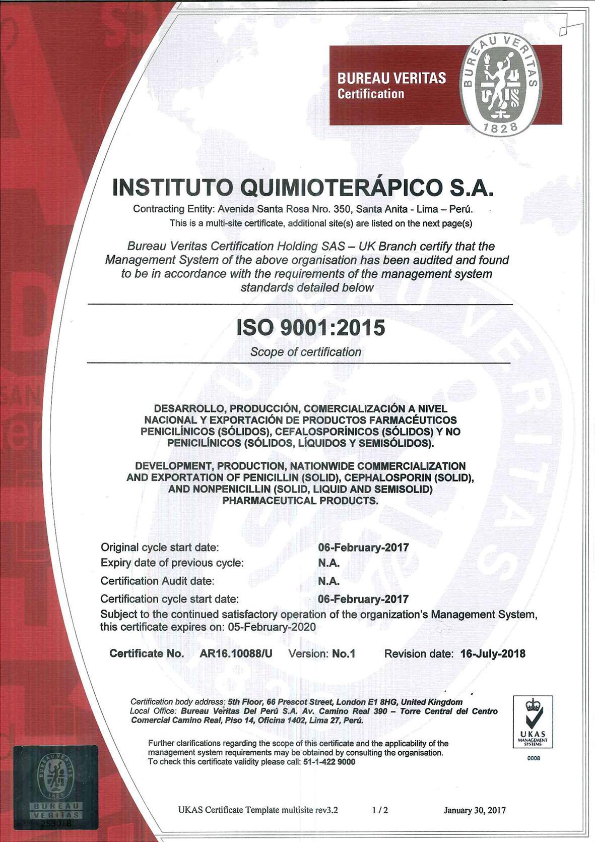 CERTIFICADO ISO 9001_2015 - INSTITUTO QUIMIOTERÁPICO S.A. (R01) chicob